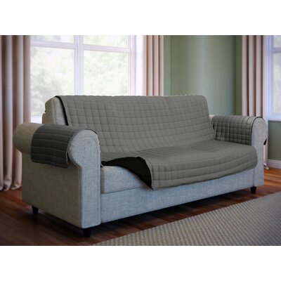 Wayfair Basics Microfiber Sofa Slipcover Color: Gray