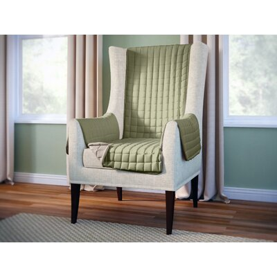 Wayfair Basics Wingback Armchair Slipcover Color: Green