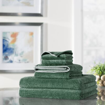 Wayfair Basics 6 Piece Quick Dry Towel Set Color: Green