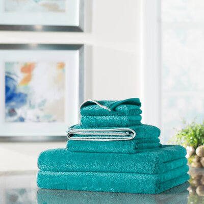 Wayfair Basics 6 Piece Quick Dry Towel Set Color: Teal