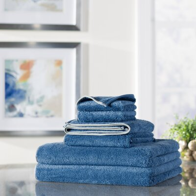 Wayfair Basics 6 Piece Quick Dry Towel Set Color: Royal Blue