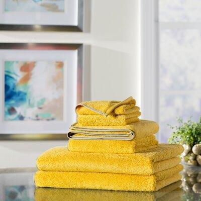 Wayfair Basics 6 Piece Quick Dry Towel Set Color: Tangerine