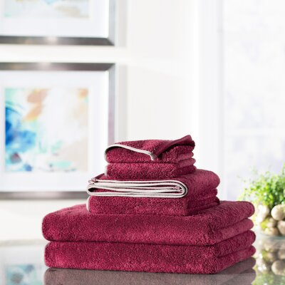 Wayfair Basics 6-Piece Quick Dry Towel Set Color: Pink
