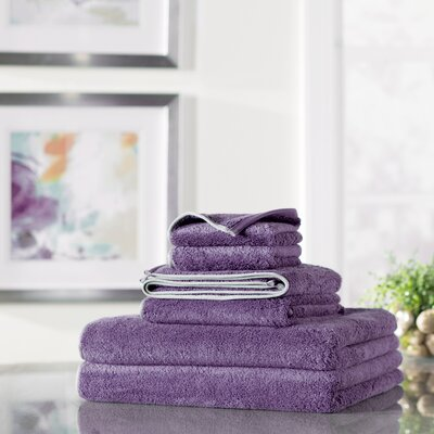Wayfair Basics 6 Piece Quick Dry Towel Set Color: Purple
