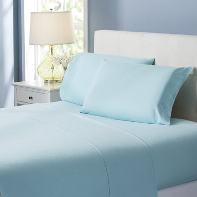 Wayfair Basics Flannel Sheet Set Size: King, Color: Light Blue Solid