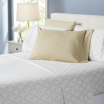 Wayfair Basics Trellis 6 Piece Sheet Set Size: King, Color: Beige