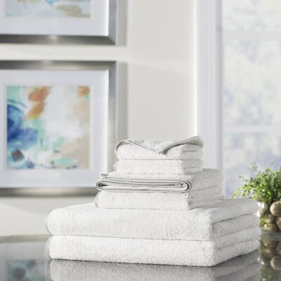 Wayfair Basics 6 Piece Quick Dry Towel Set Color: White