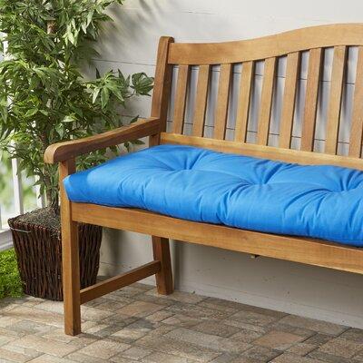 Wayfair Basics Outdoor Bench Cushion Fabric: Marine Blue