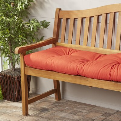 Wayfair Basics Outdoor Bench Cushion Fabric: Red