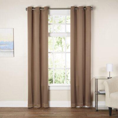 Sanders Solid Blackout Grommet Single Curtain Panel