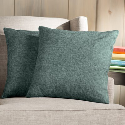 Wayfair Basics Throw Pillow Color: Dark Turquoise