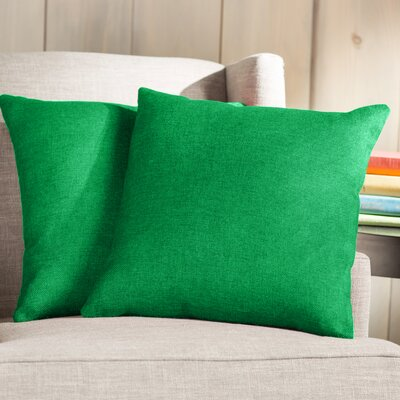 Wayfair Basics Throw Pillow Color: Green