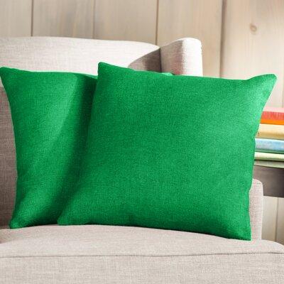 Wayfair Basics 18 Throw Pillow Color: Green