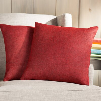 Wayfair Basics Throw Pillow Color: Red