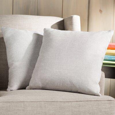 Wayfair Basics 18 Throw Pillow Color: White