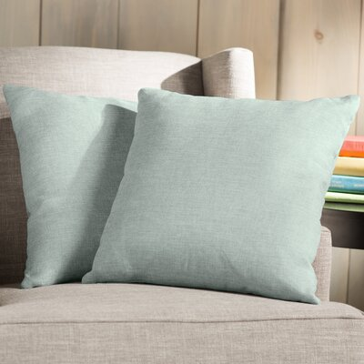 Wayfair Basics Throw Pillow Color: Turquoise