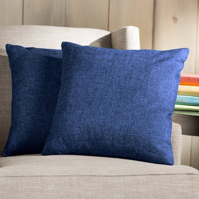 Wayfair Basics Throw Pillow Color: Navy Blue