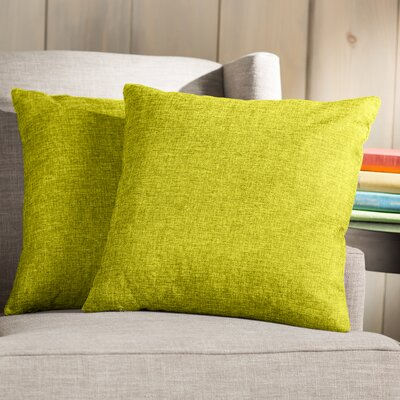 Wayfair Basics 18 Throw Pillow Color: Yellow