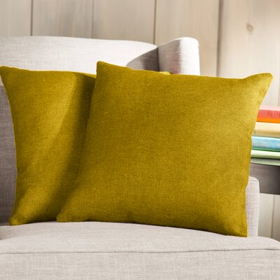 Wayfair Basics Throw Pillow Color: Orange Yellow