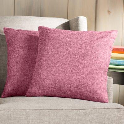 Wayfair Basics Throw Pillow Color: Pink