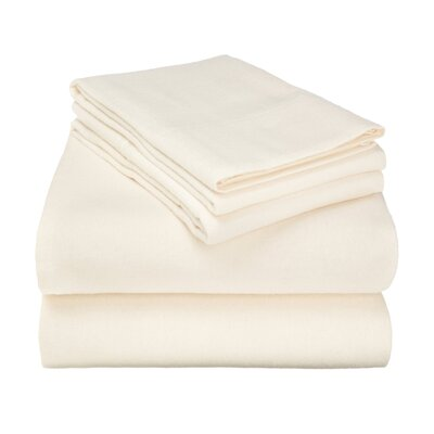 Wayfair Basics Flannel Sheet Set Size: King, Color: Ivory Solid