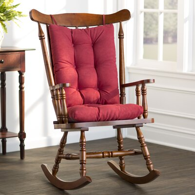 Wayfair Basics Rocking Chair Cushion Color: Red