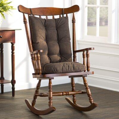 Wayfair Basics Rocking Chair Cushion Color: Chocolate