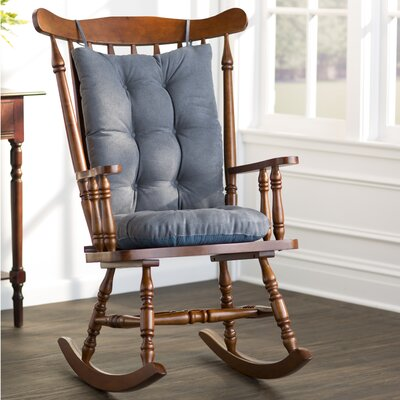 Wayfair Basics Rocking Chair Cushion Color: Stone Blue