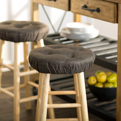 Wayfair Basics Tufted Gripper Barstool Cushion Set Color: Chestnut