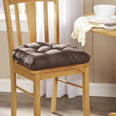 Wayfair Basics Chair Cushion Fabric: Chestnut