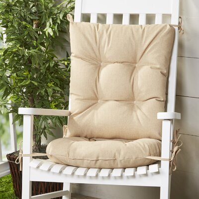 Wayfair Basics Outdoor 2 Piece Rocking Chair Cushion Set Fabric: Husk Birch