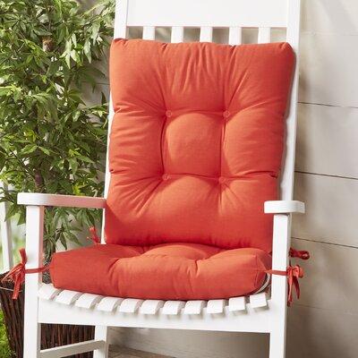 Wayfair Basics Outdoor 2 Piece Rocking Chair Cushion Set Fabric: Red