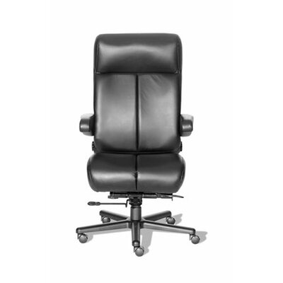 Comfort Series Premier Leather/Leathermate High-Back Office Chair Color: Medium Gray/Black, Casters: 574 Product Photo