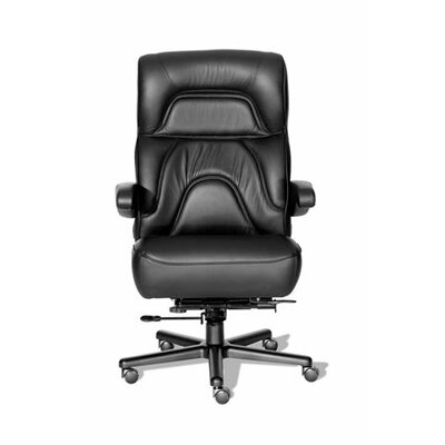 Comfort Plus+ Series Chairman High-Back Office Chair Color: Medium Gray/Black, Casters: Hard Surface Product Image 6821