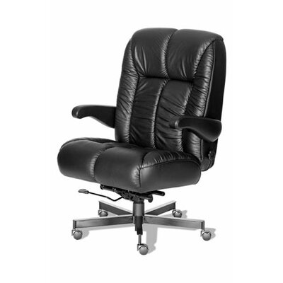 Comfort Plus+ Series Newport Ultra Leather/Leathermate Vinyl High-Back Office Chair Color: Black, Ca Product Image 6803