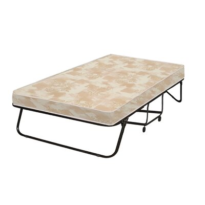 Portable Rollaway Folding Bed with Mattress Size: 48 W