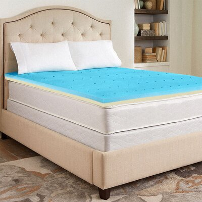 Gel Infused High Density Foam Mattress Topper Size: Queen