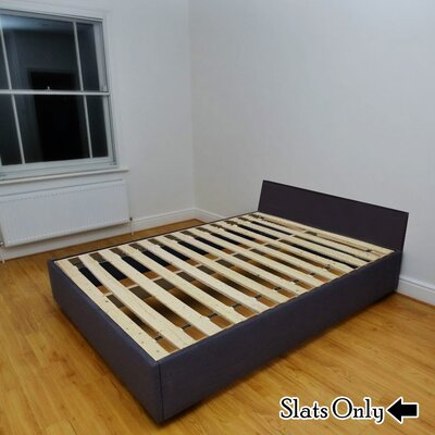 Heavy Duty Wooden Bunkie Board Slats Size: King