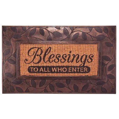 Blessings to All Who Enter Doormat