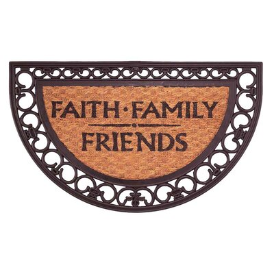 Faith Family Friends Doormat