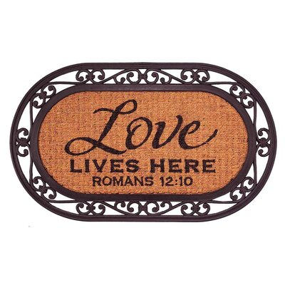 Love Lives Here, Romans 12:10 Doormat