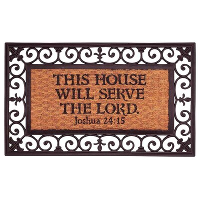This House Will Serve The Lord, Joshua 24:15 Doormat