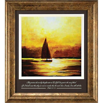 'Sail Sunset How Great is' Framed Textual Art Print BKWT3921 43338188