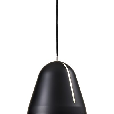 Tilt 1-Light Bowl Pendant Finish: Gray, Size: Small