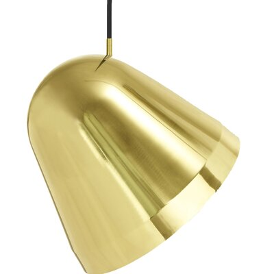 Tilt 1-Light Bowl Pendant Size: Small