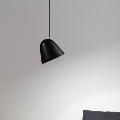 Tilt 1-Light Bowl Pendant Finish: Black, Size: Small