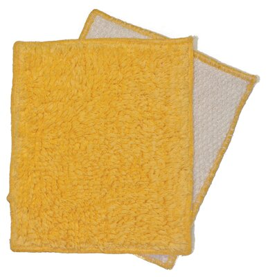 Janey Lynn's Designs Inc Shrubbies Wash Cloth (Set of 2) - Color: Cornbread
