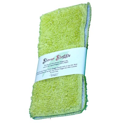 Shower Shaggie Wash Cloth Color: Limealicious