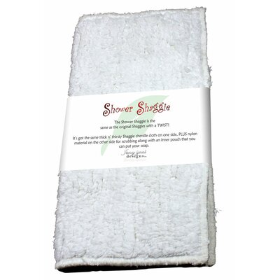Shower Shaggie Wash Cloth Color: Snow White