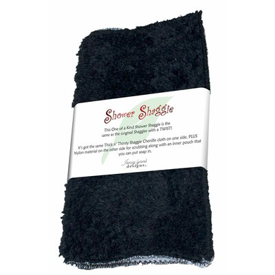Shower Shaggie Wash Cloth Color: Baa Baa Black